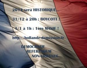 """1ère Manif 2014 et BOYCOTT du """"président"""""""
