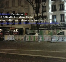 Avenue Wagram : Hollande-Demission