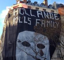 Hommen le 2 février. La foule hurle Hollande Demission !