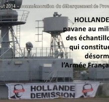 Hollande Demission, sur terre, dans les airs, et sur mer