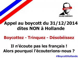 Organisons ensemble un BOYCOTT NATIONAL
