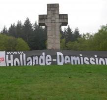La Banderole en action par des militants organisés
